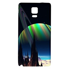 Planets In Space Stars Galaxy Note 4 Back Case