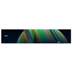 Planets In Space Stars Flano Scarf (small)