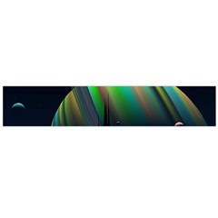 Planets In Space Stars Flano Scarf (large)