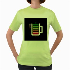 Black Energy Battery Life Women s Green T Shirt