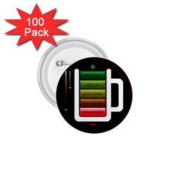 Black Energy Battery Life 1 75  Buttons (100 Pack)