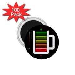 Black Energy Battery Life 1 75  Magnets (100 Pack)