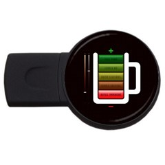 Black Energy Battery Life Usb Flash Drive Round (4 Gb)