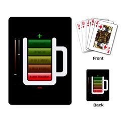 Black Energy Battery Life Playing Card