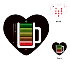Black Energy Battery Life Playing Cards (heart)