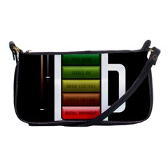 Black Energy Battery Life Shoulder Clutch Bags