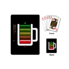 Black Energy Battery Life Playing Cards (mini)