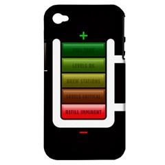 Black Energy Battery Life Apple Iphone 4/4s Hardshell Case (pc+silicone)