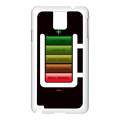 Black Energy Battery Life Samsung Galaxy Note 3 N9005 Case (white)