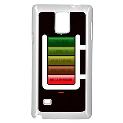 Black Energy Battery Life Samsung Galaxy Note 4 Case (white)