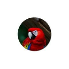 Scarlet Macaw Bird Golf Ball Marker (10 Pack)