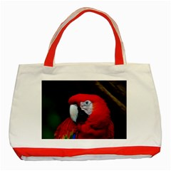 Scarlet Macaw Bird Classic Tote Bag (red)