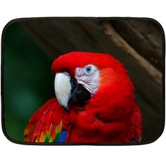 Scarlet Macaw Bird Fleece Blanket (mini)
