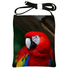 Scarlet Macaw Bird Shoulder Sling Bags