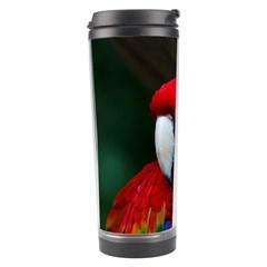Scarlet Macaw Bird Travel Tumbler
