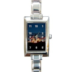 Art Sunset Anime Afternoon Rectangle Italian Charm Watch