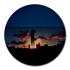 Art Sunset Anime Afternoon Round Mousepads