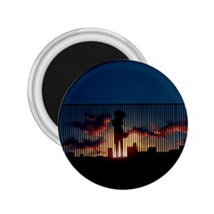 Art Sunset Anime Afternoon 2 25  Magnets