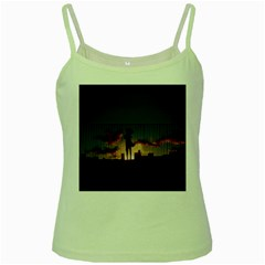 Art Sunset Anime Afternoon Green Spaghetti Tank