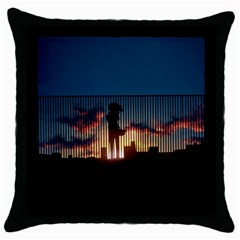 Art Sunset Anime Afternoon Throw Pillow Case (black)