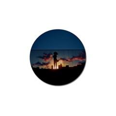 Art Sunset Anime Afternoon Golf Ball Marker