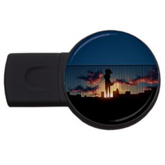 Art Sunset Anime Afternoon Usb Flash Drive Round (2 Gb)