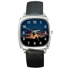 Art Sunset Anime Afternoon Square Metal Watch