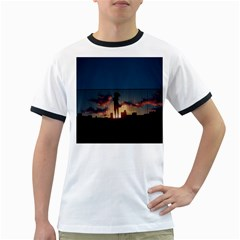 Art Sunset Anime Afternoon Ringer T Shirts