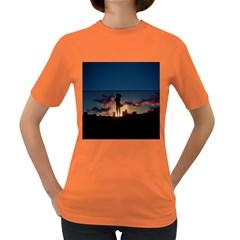 Art Sunset Anime Afternoon Women s Dark T Shirt
