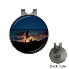 Art Sunset Anime Afternoon Hat Clips With Golf Markers