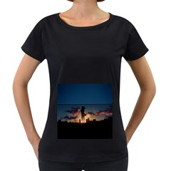 Art Sunset Anime Afternoon Women s Loose Fit T Shirt (black)