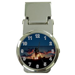 Art Sunset Anime Afternoon Money Clip Watches