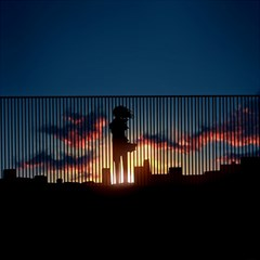 Art Sunset Anime Afternoon Canvas 20  X 20