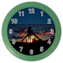 Art Sunset Anime Afternoon Color Wall Clocks