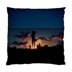Art Sunset Anime Afternoon Standard Cushion Case (two Sides)