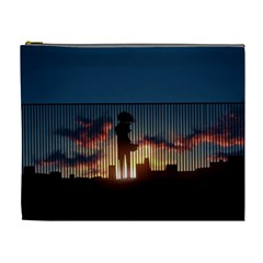 Art Sunset Anime Afternoon Cosmetic Bag (xl)