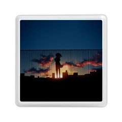 Art Sunset Anime Afternoon Memory Card Reader (square)