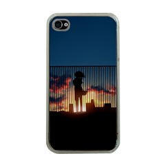 Art Sunset Anime Afternoon Apple Iphone 4 Case (clear)
