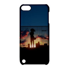 Art Sunset Anime Afternoon Apple Ipod Touch 5 Hardshell Case With Stand