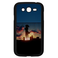 Art Sunset Anime Afternoon Samsung Galaxy Grand Duos I9082 Case (black)