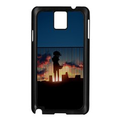 Art Sunset Anime Afternoon Samsung Galaxy Note 3 N9005 Case (black)
