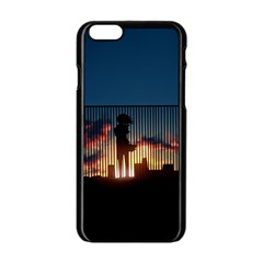 Art Sunset Anime Afternoon Apple Iphone 6/6s Black Enamel Case