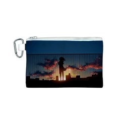 Art Sunset Anime Afternoon Canvas Cosmetic Bag (s)