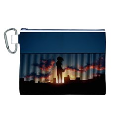 Art Sunset Anime Afternoon Canvas Cosmetic Bag (l)