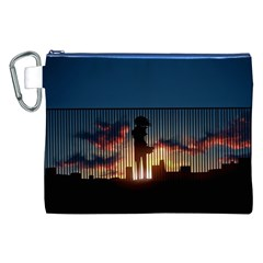 Art Sunset Anime Afternoon Canvas Cosmetic Bag (xxl)