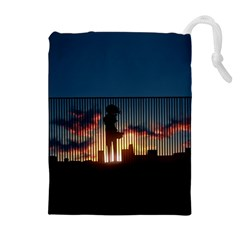 Art Sunset Anime Afternoon Drawstring Pouches (extra Large)