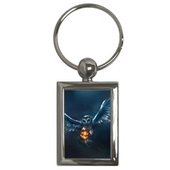 Owl And Fire Ball Key Chains (rectangle)