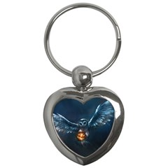 Owl And Fire Ball Key Chains (heart)