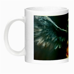 Owl And Fire Ball Night Luminous Mugs