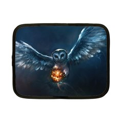 Owl And Fire Ball Netbook Case (small)
